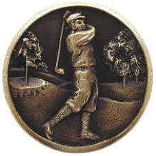 Gentleman Golfer Cabinet Knob - Antique Brass (NHK-130-AB) by Notting Hill