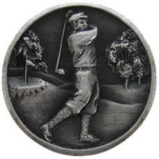 Gentleman Golfer Cabinet Knob - Antique Pewter (NHK-130-AP) by Notting Hill