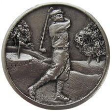 Gentleman Golfer Cabinet Knob - Satin Nickel (NHK-130-SN) by Notting Hill