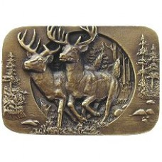 Bucks on the Run Cabinet Knob - Antique Brass (NHK-136-AB) by Notting Hill