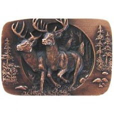 Bucks on the Run Cabinet Knob - Antique Copper (NHK-136-AC) by Notting Hill