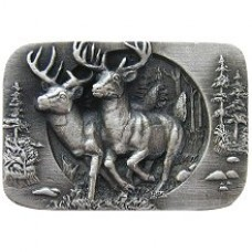 Bucks on the Run Cabinet Knob - Antique Pewter (NHK-136-AP) by Notting Hill