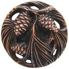 Cones & Boughs Cabinet Knob - Antique Copper (NHK-138-AC) by Notting Hill