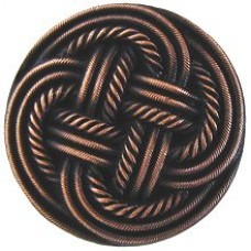 Classic Weave Cabinet Knob - Antique Copper (NHK-139-AC) by Notting Hill