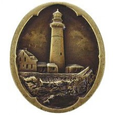 Guiding Lighthouse Cabinet Knob - Antique Brass (NHK-142-AB) by Notting Hill