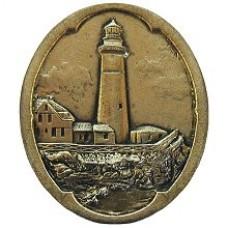 Guiding Lighthouse Cabinet Knob - Brite Brass (NHK-142-BB) by Notting Hill