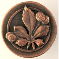 Horse Chestnut Cabinet Knob - Antique Copper (NHK-143-AC) by Notting Hill