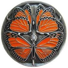 Monarch Butterflies Cabinet Knob - Pewter Enameled (NHK-145-PE) by Notting Hill