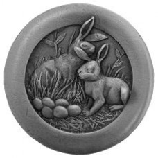 Rabbits Cabinet Knob - Antique Pewter (NHK-166-AP) by Notting Hill