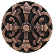Chateau Cabinet Knob - Antique Copper (NHK-176-AC) by Notting Hill