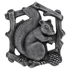 Grey Squirrel (Left side/faces right) Cabinet Knob - Antique Pewter (NHK-177-AP-L) by Notting Hill