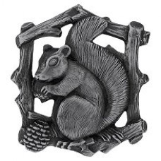 Grey Squirrel (Right side/faces left) Cabinet Knob - Antique Pewter (NHK-177-AP-R) by Notting Hill