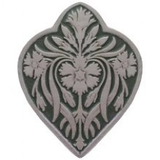 Dianthus/Sage Cabinet Knob - Antique Pewter/Sage (green) (NHK-178-AP-C) by Notting Hill