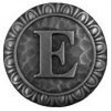 Initial E  Cabinet Knob - Antique Pewter (NHK-184-AP) by Notting Hill