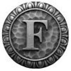 Initial F  Cabinet Knob - Antique Pewter (NHK-185-AP) by Notting Hill