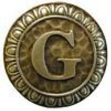 Initial G  Cabinet Knob - Antique Brass (NHK-186-AB) by Notting Hill