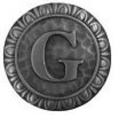 Initial G  Cabinet Knob - Antique Pewter (NHK-186-AP) by Notting Hill