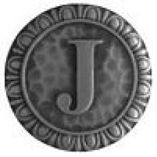 Initial J  Cabinet Knob - Antique Pewter (NHK-189-AP) by Notting Hill