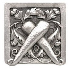 Leafy Carrot Cabinet Knob - Antique Pewter (NHK-252-AP) by Notting Hill