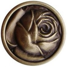McKenna's Rose Cabinet Knob - Antique Brass (NHK-280-AB) by Notting Hill