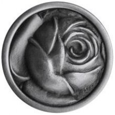McKenna's Rose Cabinet Knob - Antique Pewter (NHK-280-AP) by Notting Hill