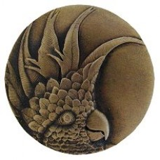 Cockatoo (Small - Left side) Cabinet Knob - Antique Brass (NHK-324-AB-L) by Notting Hill