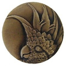 Cockatoo (Small - Right side) Cabinet Knob - Antique Brass (NHK-324-AB-R) by Notting Hill