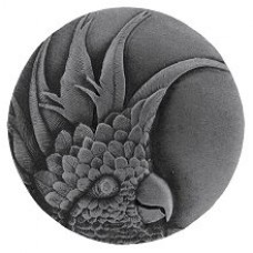 Cockatoo (Small - Left side) Cabinet Knob - Antique Pewter (NHK-324-AP-L) by Notting Hill
