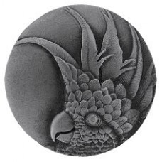 Cockatoo (Small - Right side) Cabinet Knob - Antique Pewter (NHK-324-AP-R) by Notting Hill