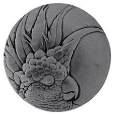 Cockatoo (Small - Left side) Cabinet Knob - Brilliant Pewter (NHK-324-BP-L) by Notting Hill
