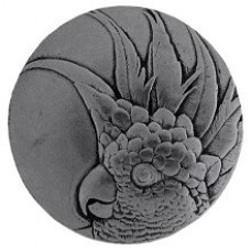 Cockatoo (Small - Right side) Cabinet Knob - Brilliant Pewter (NHK-324-BP-R) by Notting Hill