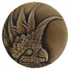 Cockatoo (Large - Left side) Cabinet Knob - Antique Brass (NHK-327-AB-L) by Notting Hill