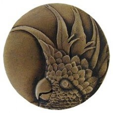 Cockatoo (Large - Right side)  Cabinet Knob - Antique Brass (NHK-327-AB-R) by Notting Hill
