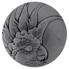 Cockatoo (Large - Left side) Cabinet Knob - Brilliant Pewter (NHK-327-BP-L) by Notting Hill