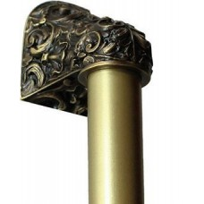 """Acanthus/Plain Bar Appliance Pull (8"""" cc) - Antique Brass (NHO-500-AB-12PL) by Notting Hill"""