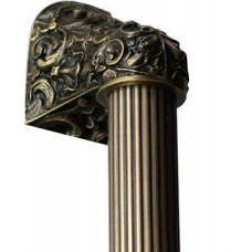 "Acanthus/Fluted Bar Appliance Pull (10"" cc) - Antique Brass (NHO-500-AB-14F) by Notting Hill"