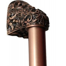 "Acanthus/Plain Bar Appliance Pull (8"" cc) - Antique Copper (NHO-500-AC-12PL) by Notting Hill"