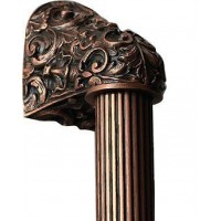 "Acanthus/Fluted Bar Appliance Pull (10"" cc) - Antique Copper (NHO-500-AC-14F) by Notting Hill"