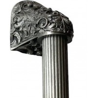 "Acanthus/Fluted Bar Appliance Pull (8"" cc) - Antique Pewter (NHO-500-AP-12F) by Notting Hill"