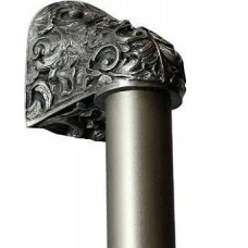 "Acanthus/Plain Bar Appliance Pull (8"" cc) - Antique Pewter (NHO-500-AP-12PL) by Notting Hill"