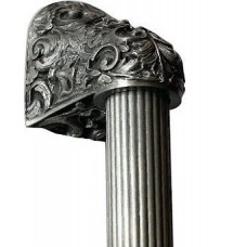 "Acanthus/Fluted Bar Appliance Pull (12"" cc) - Antique Pewter (NHO-500-AP-16F) by Notting Hill"