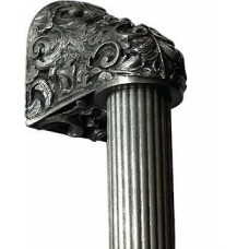 "Acanthus/Fluted Bar Appliance Pull (8"" cc) - Brilliant Pewter (NHO-500-BP-12F) by Notting Hill"