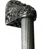 """Acanthus/Fluted Bar Appliance Pull (12"""" cc) - Brilliant Pewter (NHO-500-BP-16F) by Notting Hill"""