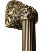 "Acanthus/Fluted Bar Appliance Pull (10"" cc) - 24K Satin Gold (NHO-500-SG-14F) by Notting Hill"