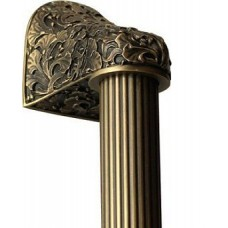 "Florid Leaves/Fluted Bar Appliance Pull (10"" cc) - Antique Brass (NHO-502-AB-14F) by Notting Hill"