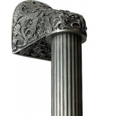 "Florid Leaves/Fluted Bar Appliance Pull (10"" cc) - Antique Pewter (NHO-502-AP-14F) by Notting Hill"