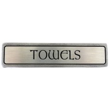 "Towels (Horizontal) Drawer Pull (3"" cc) - Antique Pewter (NHP-313-AP) by Notting Hill"