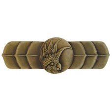 """Cockatoo (Horizontal - Left side) Drawer Pull (3"""" cc) - Antique Brass (NHP-326-AB-L) by Notting Hill"""