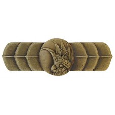 """Cockatoo (Horizontal - Right side) Drawer Pull (3"""" cc) - Antique Brass (NHP-326-AB-R) by Notting Hill"""