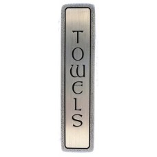 "Towels (Vertical) Drawer Pull (3"" cc) - Antique Pewter (NHP-350-AP) by Notting Hill"